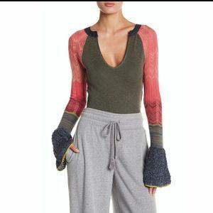 Free people longseleve knit top